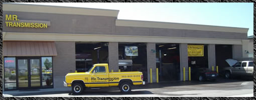 Mr Transmission front of shop