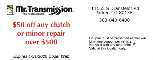 $100 OFF CLUTCH REPAIR COUPON